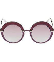 jimmy choo women's 60mm gotha round sunglasses - purple