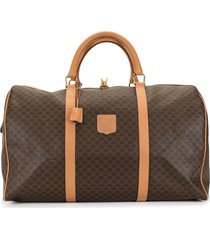 céline pre-owned pre-owned macadam travel bag - brown