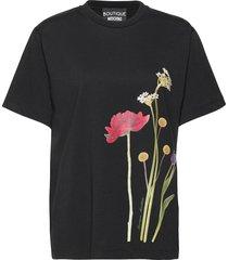 botanic t-shirt t-shirts & tops short-sleeved zwart boutique moschino