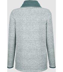 sweatshirt dress in grön::offwhite