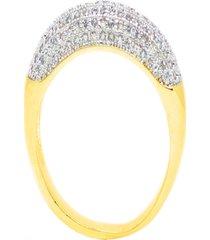 anel kumbayá aparador de aliança venice bombê fino semijoia banho de ouro 18k cravação de zircônia detalhe em ródio
