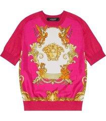 medusa renaissance print insert sweater
