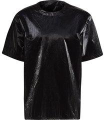 y-3 crinkle-effect t-shirt - black