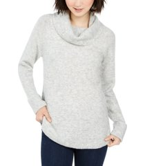 style & co cowl-neck waffle-knit sweater, created for macy's