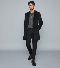 reiss yankee - slim fit striped shirt in black, mens, size xl
