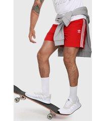pantaloneta rojo-blanco adidas originals classics 3-stripes