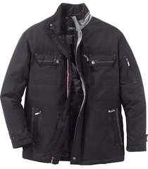 lång jacka med extra utrymme för magen men plus svart::grå