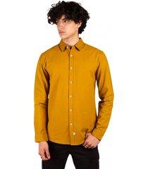 camisa oxford abotonada manga larga amarillo sioux