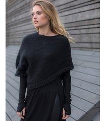 sweter krótki czarny
