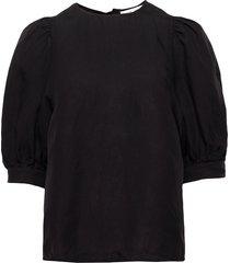 celestine blouse 12771 blouses short-sleeved svart samsøe samsøe