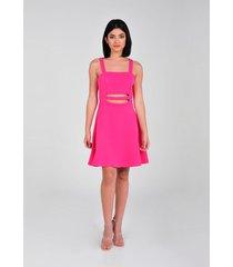 vestido de tiras de mujer vestimenta vu172-1117-253 rosa