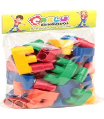 monte fácil conectando formas - 40 peças - embalagem plastica - carlu