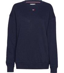 cn track top ls sweat-shirt trui blauw tommy hilfiger