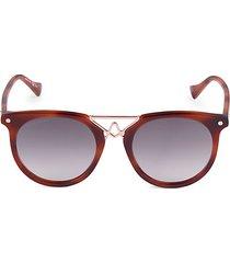 tortoiseshell 50mm round sunglasses