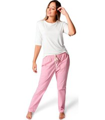 pijama confort pantalón para mujer color siete essential - rojo