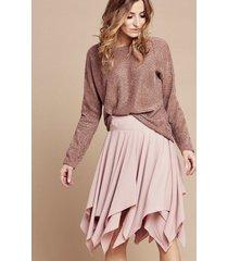 spódnica asymetryczna pink