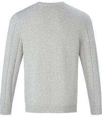 trui met ronde hals en kabelmotief van louis sayn grijs