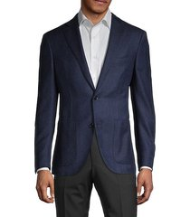 standard-fit wool, silk & linen jacket