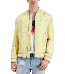 inc men's dylan floral-print bomber jacket, created for macy's