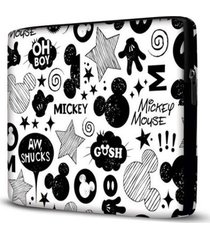 capa para notebook mickey 15.6 à 17 polegadas branco - feminino