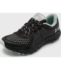 zapatilla ua w charged bandit trail gris under armour