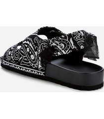 arizona love women's apache bandana sandals - black - uk 6