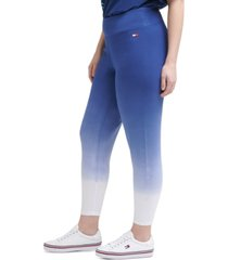 tommy hilfiger sport plus size dip-dye leggings