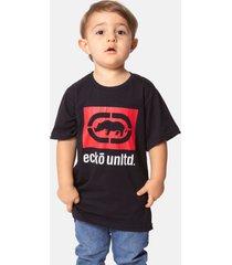 camiseta ecko estampada preta