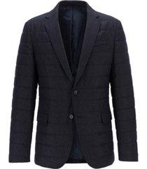 boss men's havon slim-fit quilted blazer