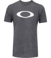 camiseta oakley ellipse tee - masculina - cinza escuro