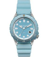 columbia men's pacific outlander sky blue silicone watch 45mm