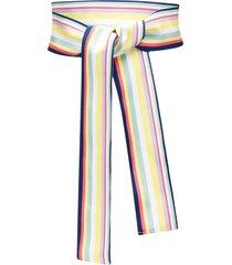 sara roka striped cotton-blend tie belt - blue