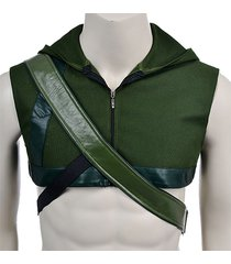 green arrow hoodie cosplay costume oliver queen hoodie and quiver 3 color