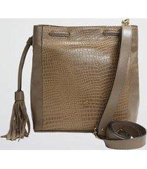 bolsa tiracolo bucket croco mariart feminina