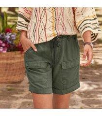 sundance catalog women's desert utility shorts - petites in beetle petite 12