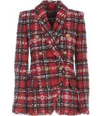 oversized 6 btn tweed jacket