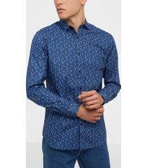 premium by jack & jones jprblablackpool shirt l/s s20 sts skjortor mörk blå