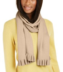 charter club cashmere ruffle muffler scarf, created for macy's