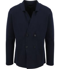 roberto collina double breasted knit jacket