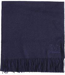 max mara camel scarf in blue