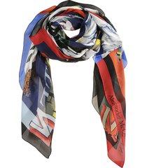 alexander mcqueen still life patchwork scarf