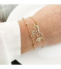 bransoletka z jednorożcem, złoty jednorożec