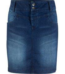 gonna di jeans sostenibile in poliestere riciclato (nero) - bpc bonprix collection