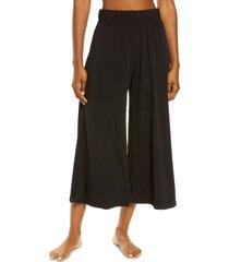 women's onzie sama crop wide leg pants, size medium/large - black
