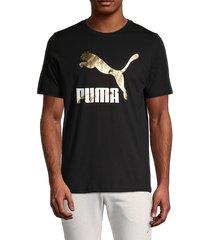 puma men's classic logo graphic t-shirt - black - size s