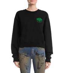 off tree cropped sweatshirt