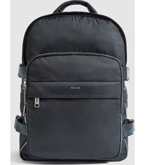 reiss harrison - large nylon backpack in navy, mens