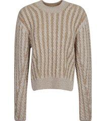 chloé stripe woven pullover