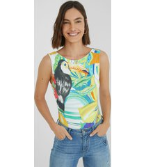 slim bodysuit tropical - material finishes - xl