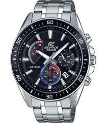 reloj casio efr_552d_1a3v plateado acero inoxidable